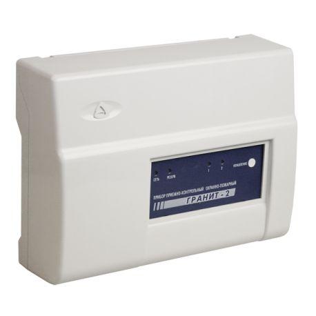 Прибор приемно-контрольный охранно-пожарный со встроенным коммуникатором GSM Гранит-2А